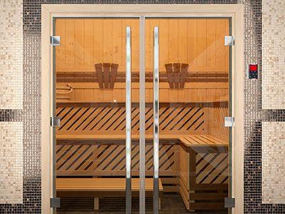 Как выбрать стеклянные двери для сауны и бани