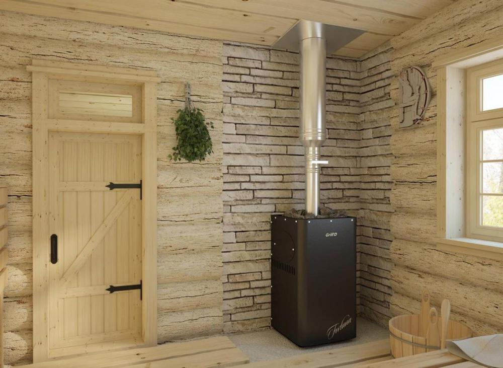 Пожаробезопасное расстояние от печи из металла до стен бани