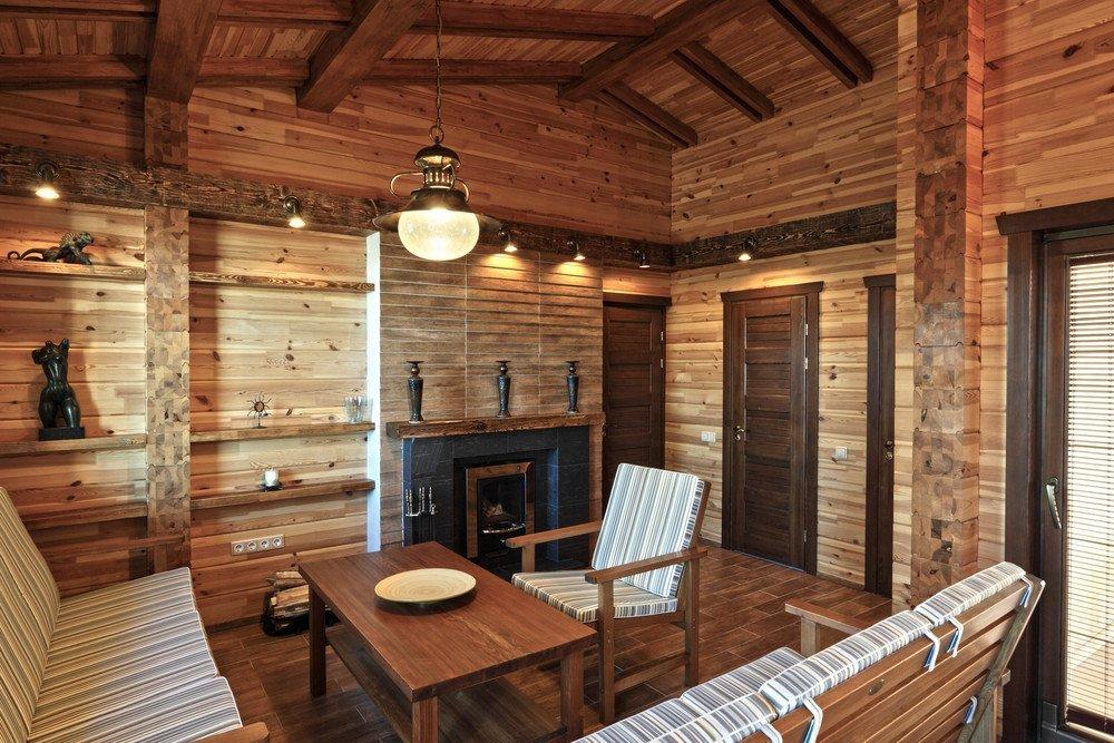 Как устроить интерьер комнаты отдыха в бане