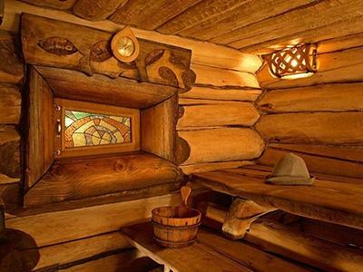 Дизайн русской бани внутри