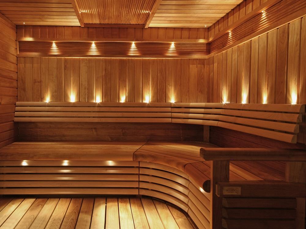 Тонкости в системе освещения парной в бане
