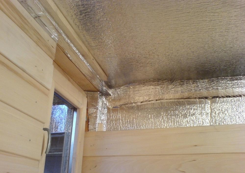 Правильное утепление потолка в бане
