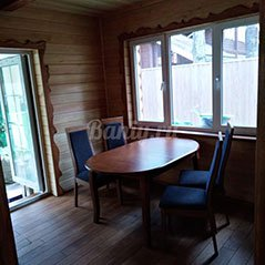 Отделка комнаты отдыха из лиственницы