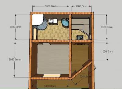 Проект бани Б-1 для частного дома