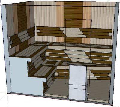 Проект сауны С-2 для частного дома или квартиры