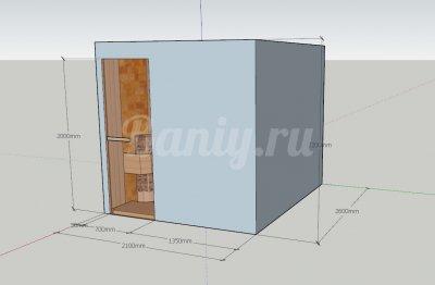 Проект сауны С-6 для частного дома или квартиры