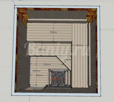 Проект сауны С-7 для частного дома или квартиры
