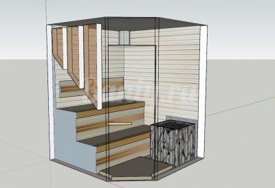 Проект сауны С-8 для частного дома или квартиры
