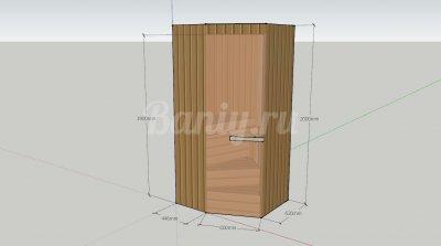 Проект сауны С-9 для частного дома или квартиры