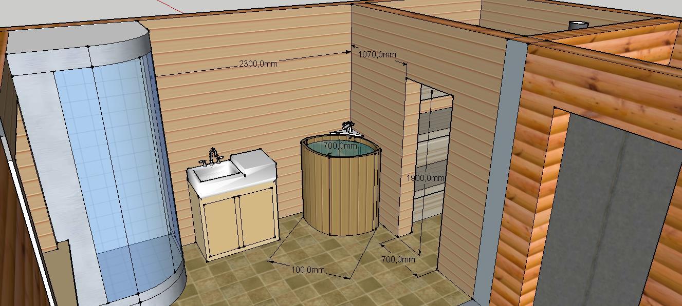 Проект бани Б-1 для частного дома, фото 6