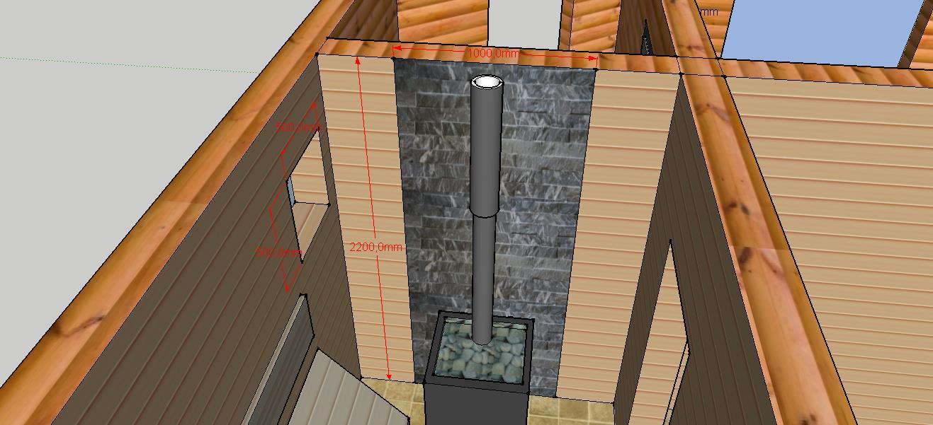 Проект бани Б-1 для частного дома, фото 7