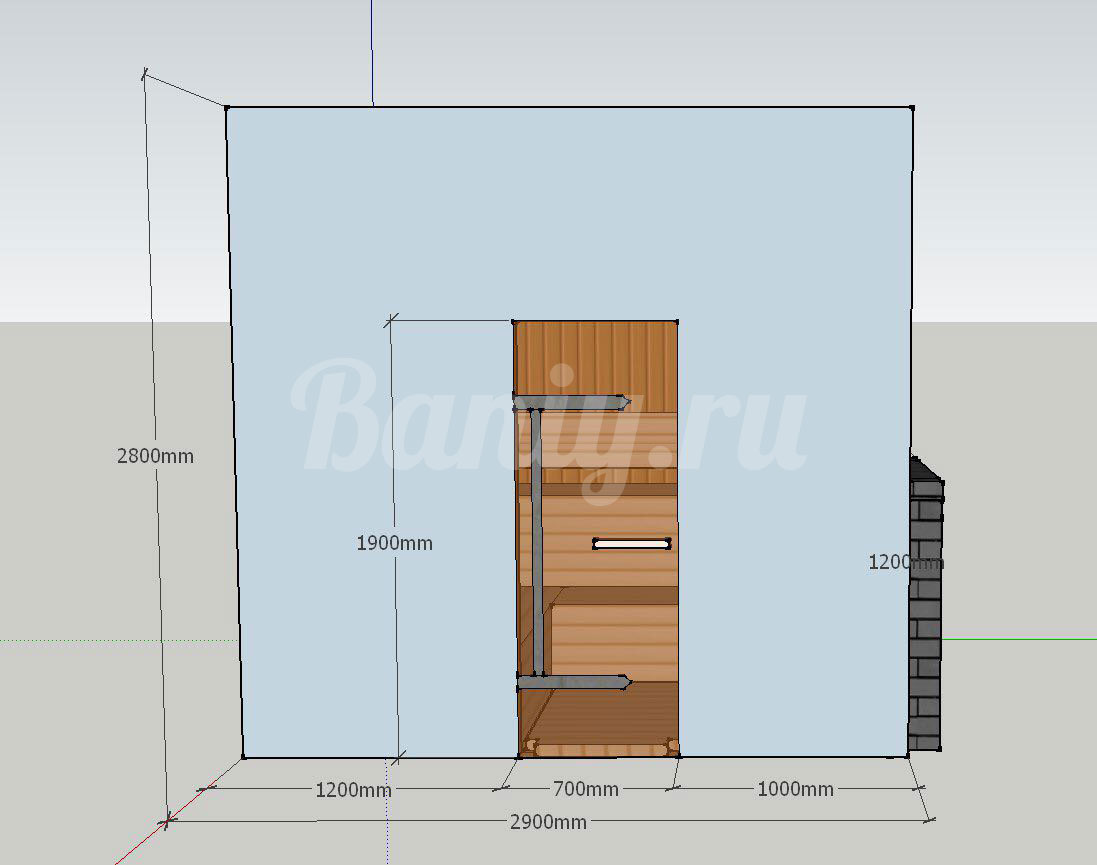 Проект бани Б-2 для частного дома, фото 1