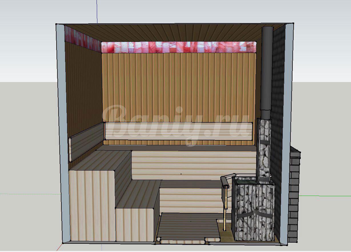 Проект бани Б-2 для частного дома, фото 3