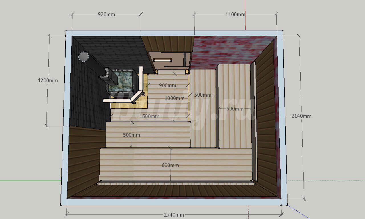 Проект бани Б-2 для частного дома, фото 4