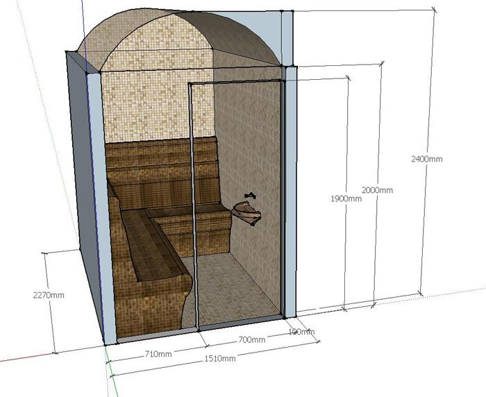 Проект хамам Х-1, фото 1