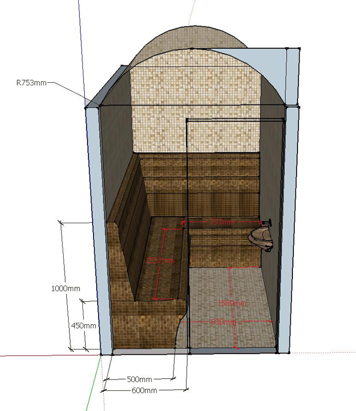 Проект хамам Х-1, фото 2