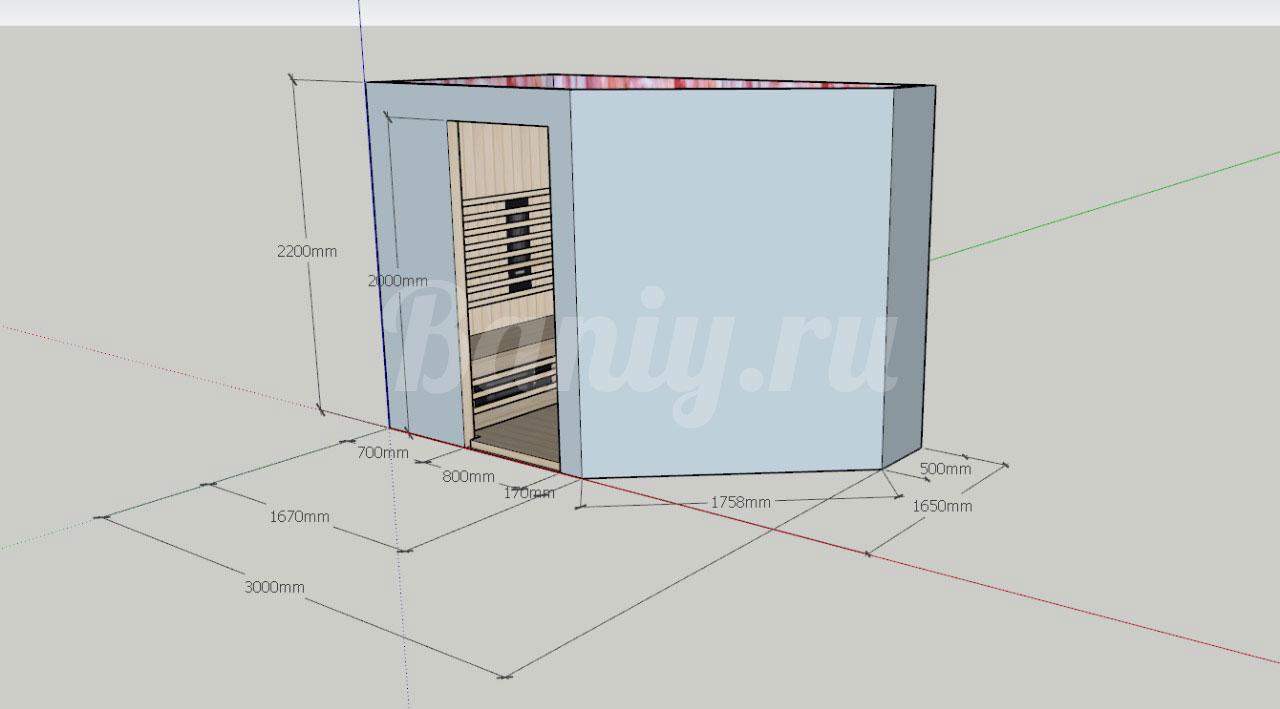 Проект ИК-САУНА ИК-1, фото 1