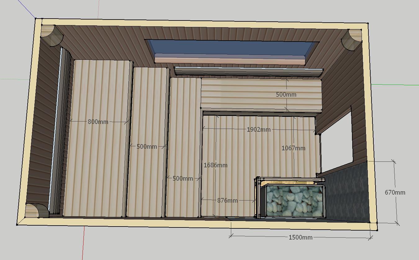 Проект сауны С-1 для частного дома или квартиры, фото 2