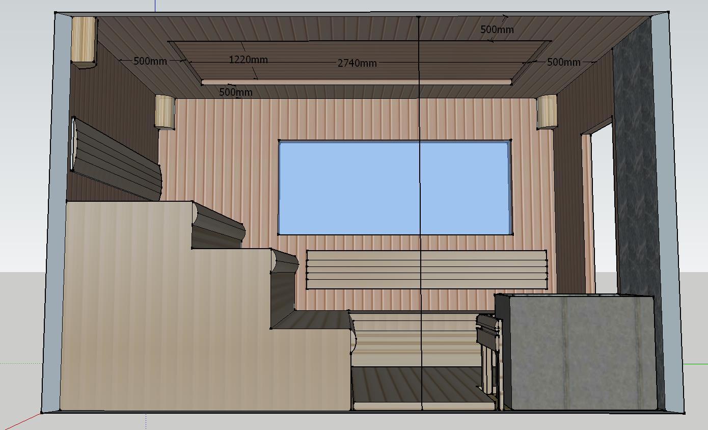 Проект сауны С-1 для частного дома или квартиры, фото 3