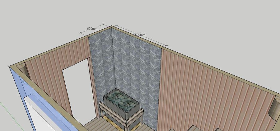 Проект сауны С-1 для частного дома или квартиры, фото 4