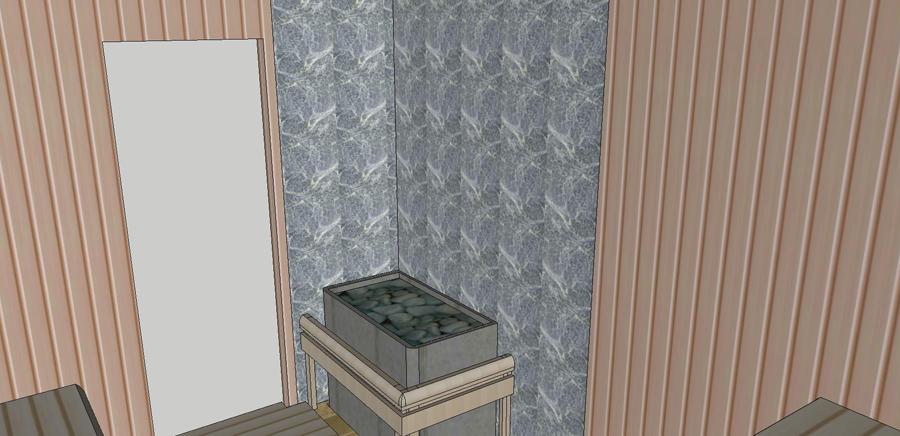 Проект сауны С-1 для частного дома или квартиры, фото 8