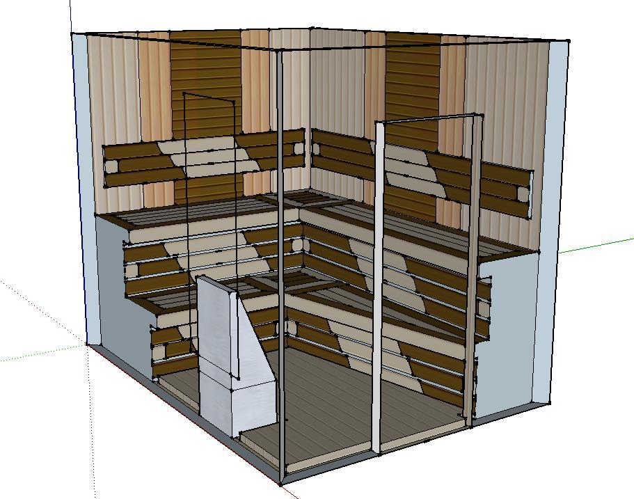 Проект сауны С-2 для частного дома или квартиры, фото 2
