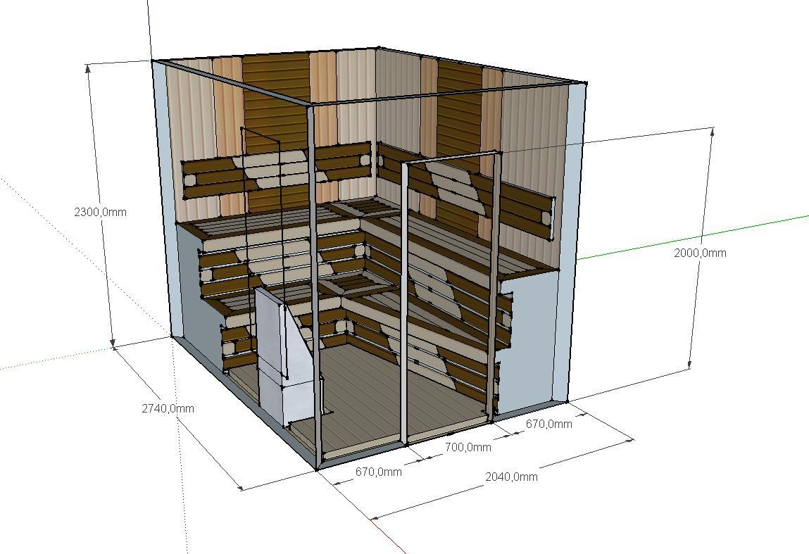 Проект сауны С-2 для частного дома или квартиры, фото 3