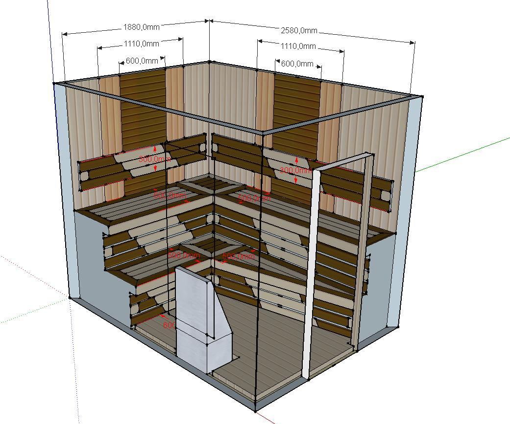 Проект сауны С-2 для частного дома или квартиры, фото 5