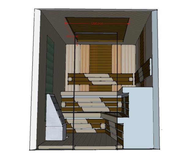 Проект сауны С-2 для частного дома или квартиры, фото 6