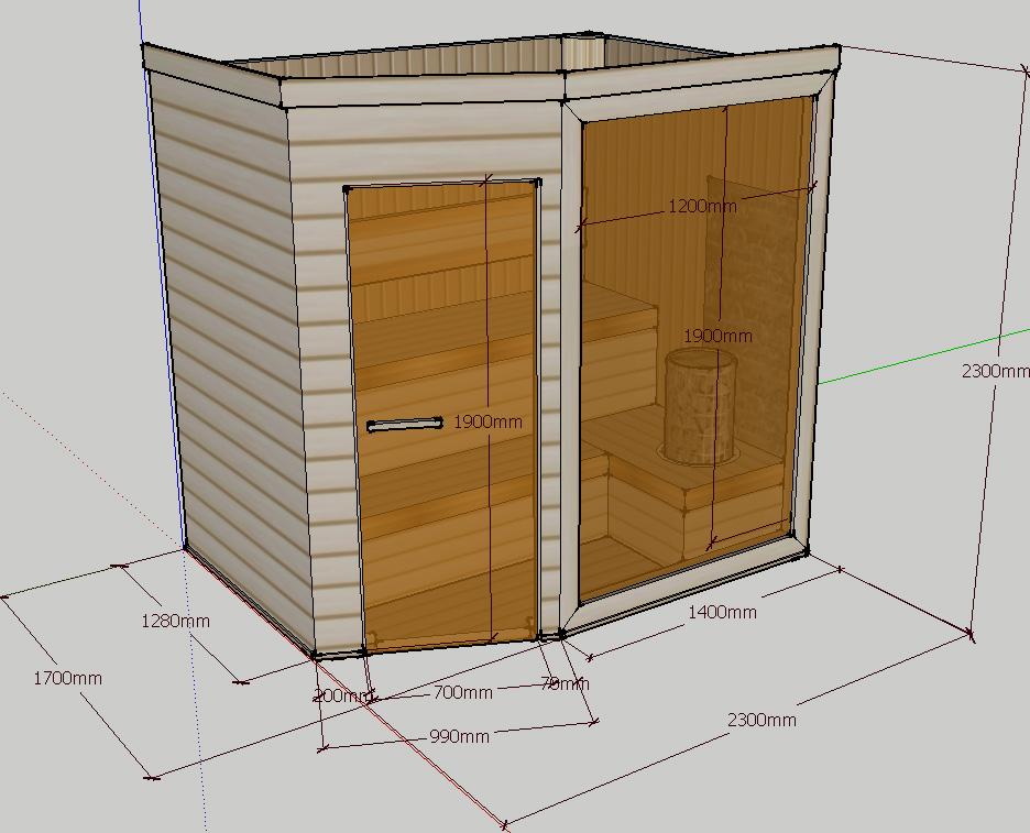 Проект сауны С-3 для частного дома или квартиры, фото 1