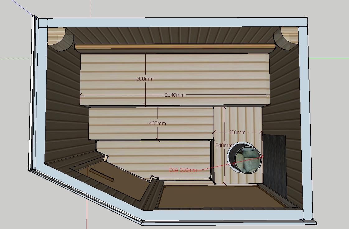 Проект сауны С-3 для частного дома или квартиры, фото 2