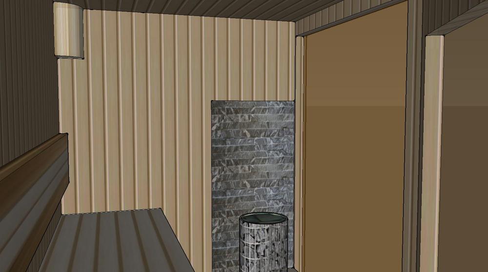 Проект сауны С-3 для частного дома или квартиры, фото 8