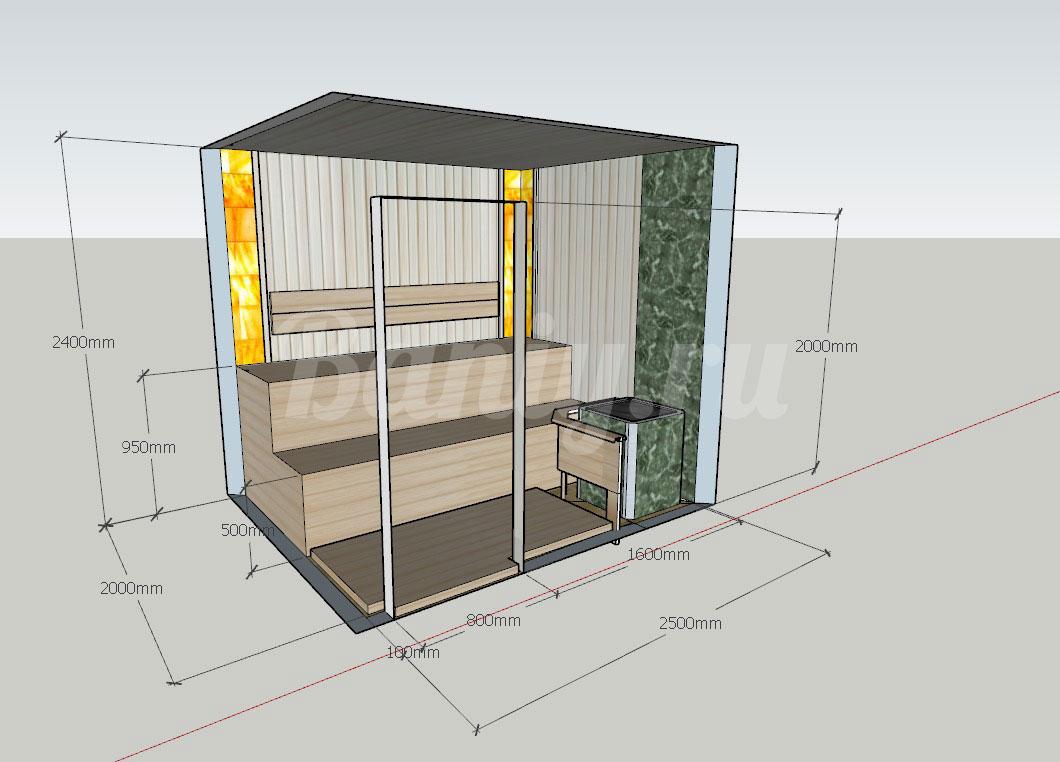 Проект сауны С-5 для частного дома или квартиры, фото 1