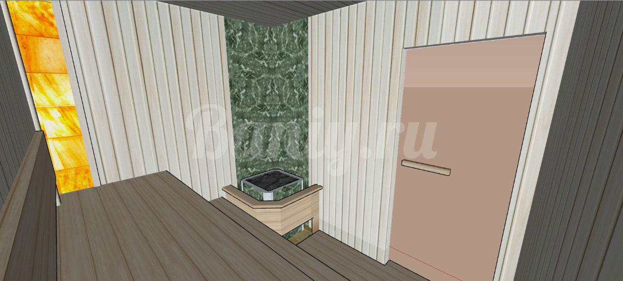Проект сауны С-5 для частного дома или квартиры, фото 4