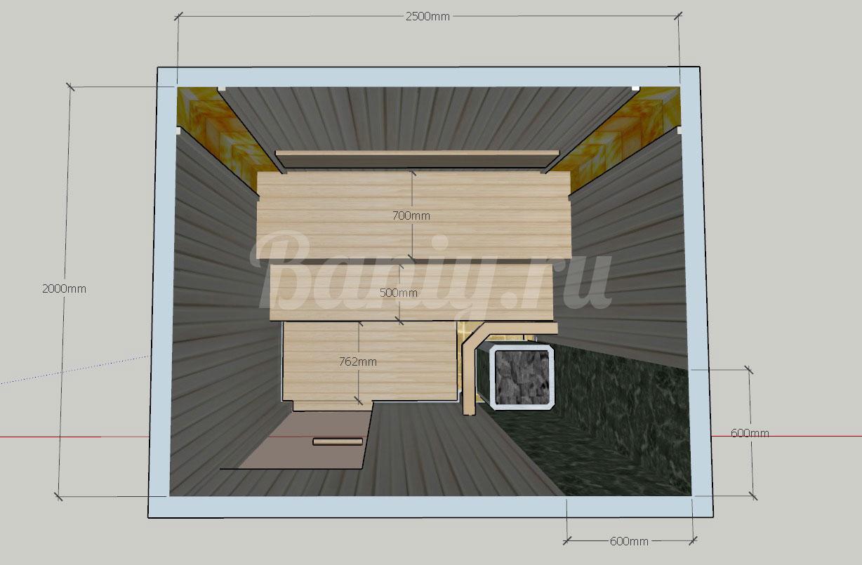 Проект сауны С-5 для частного дома или квартиры, фото 5