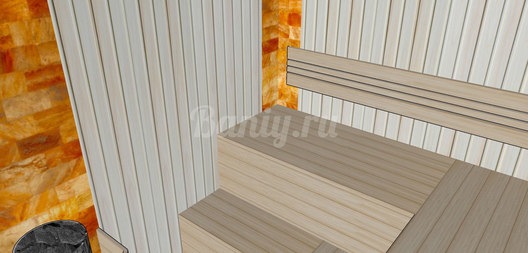 Проект сауны С-6 для частного дома или квартиры, фото 3