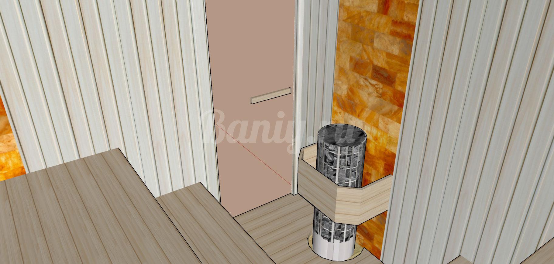 Проект сауны С-6 для частного дома или квартиры, фото 4