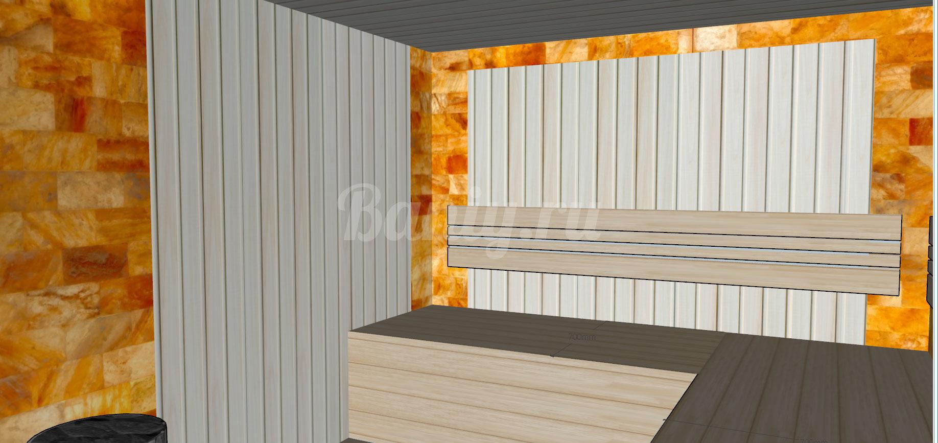 Проект сауны С-6 для частного дома или квартиры, фото 5