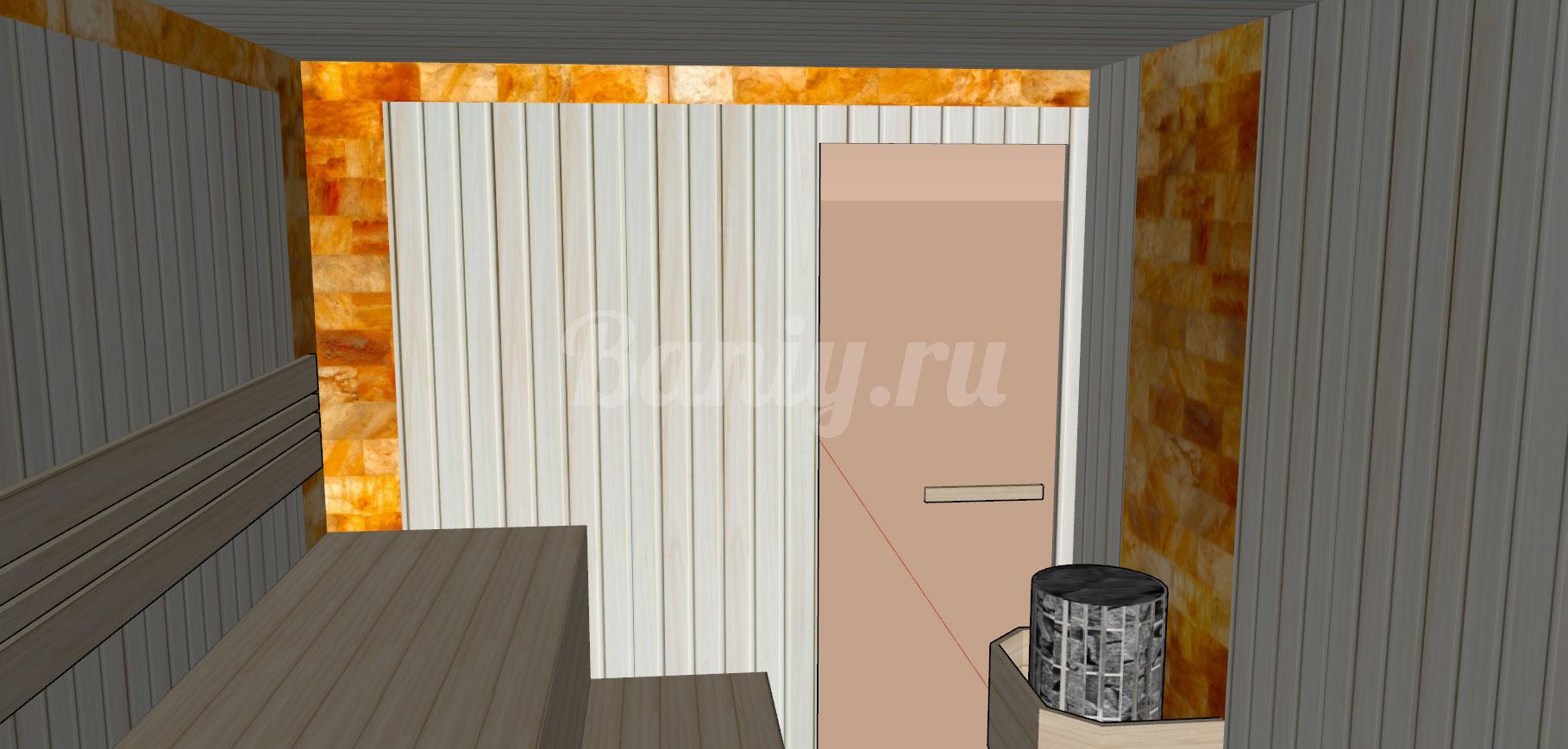 Проект сауны С-6 для частного дома или квартиры, фото 6