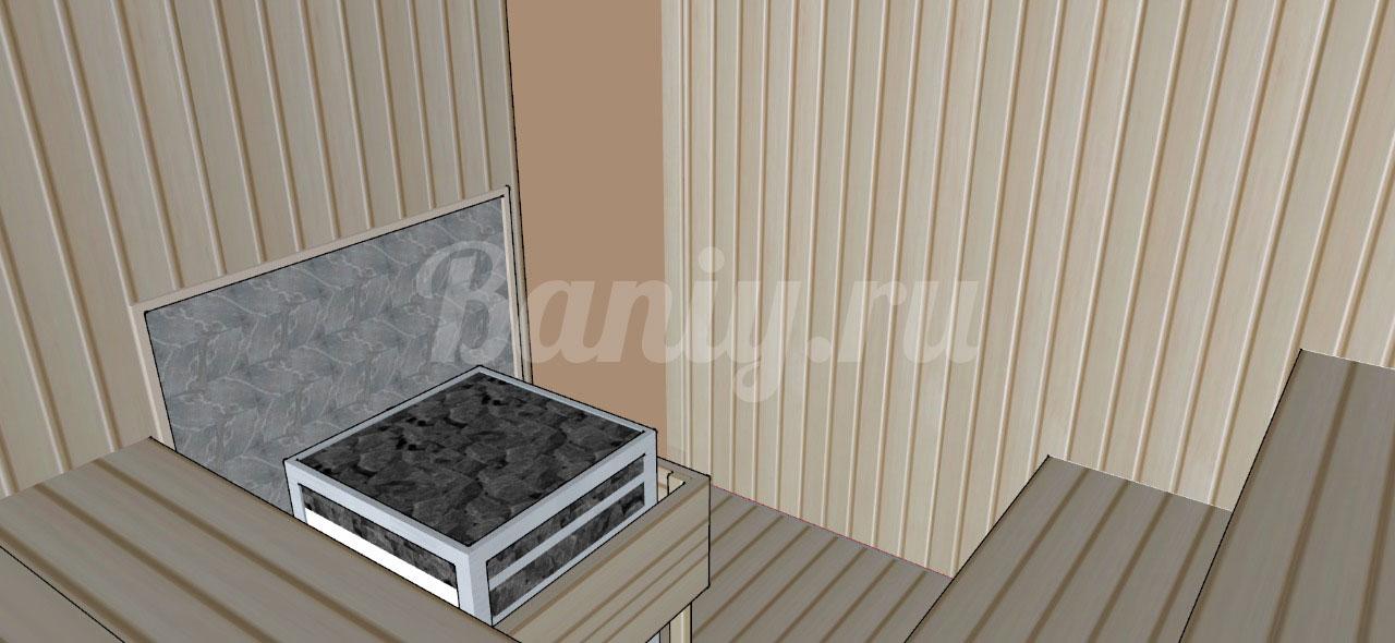 Проект сауны С-7 для частного дома или квартиры, фото 2