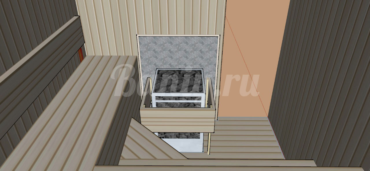 Проект сауны С-7 для частного дома или квартиры, фото 4
