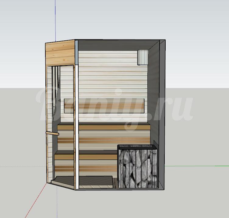 Проект сауны С-8 для частного дома или квартиры, фото 4