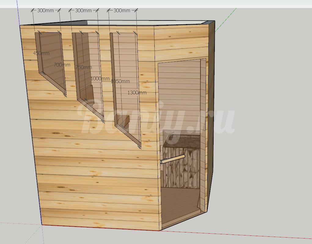 Проект сауны С-8 для частного дома или квартиры, фото 5