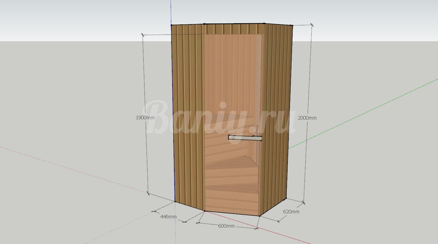 Проект сауны С-9 для частного дома или квартиры, фото 1