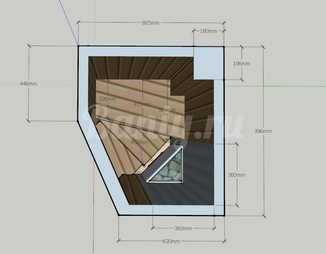 Проект сауны С-9 для частного дома или квартиры, фото 2