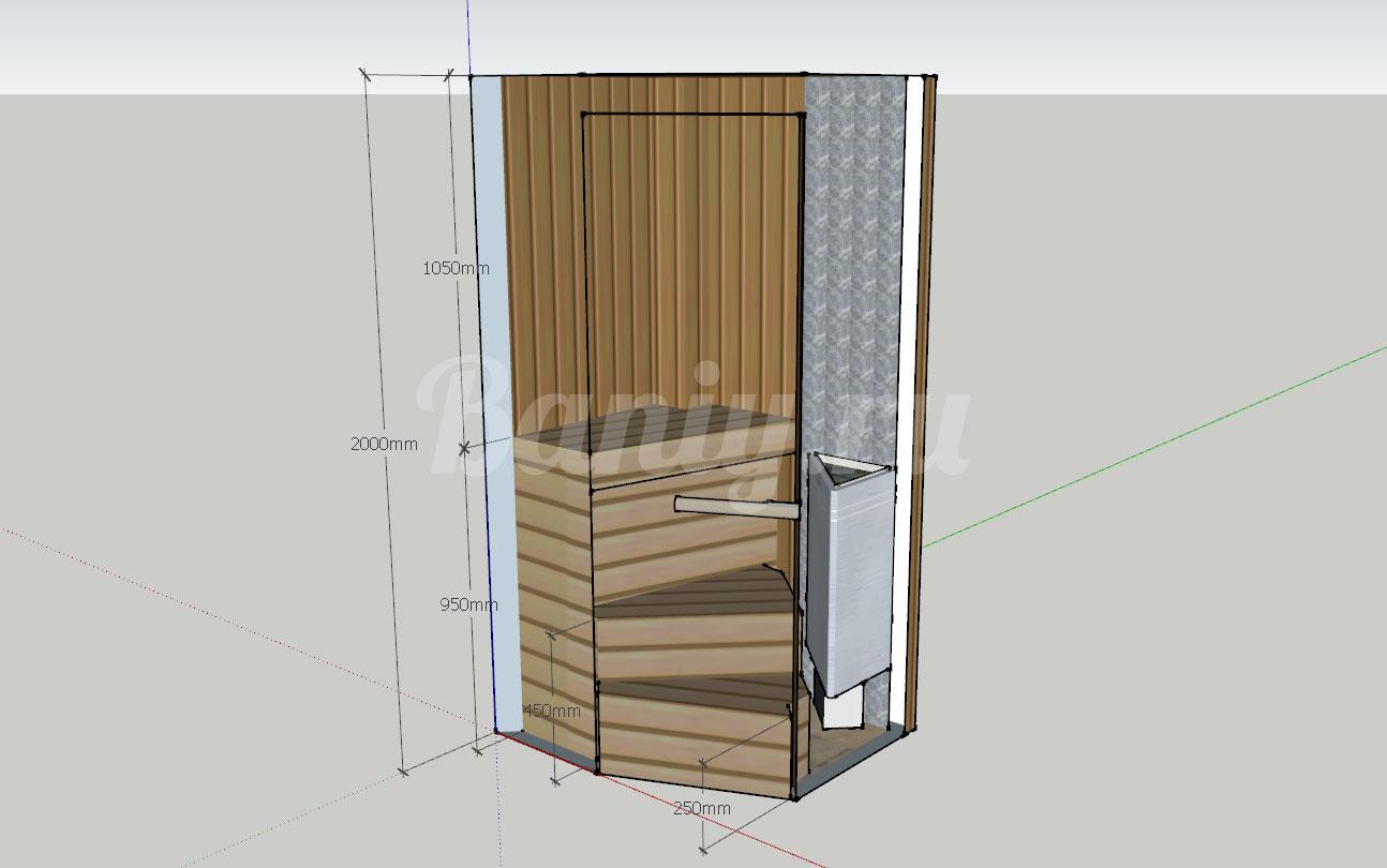 Проект сауны С-9 для частного дома или квартиры, фото 3