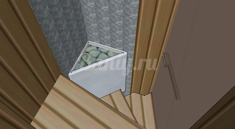 Проект сауны С-9 для частного дома или квартиры, фото 4